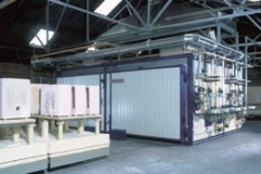 3 CAR SINGLE DECK FIRECLAY KILN WITH 36 HOUR COLD TO COLD CYCLE